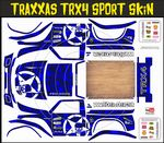 BLUE Gothic Skullz themed vinyl SKIN Kit & Stickers To Fit Traxxas TRX4 Sport R/C Rock Crawler